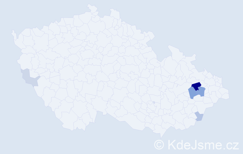 Příjmení: 'Baller', počet výskytů 15 v celé ČR