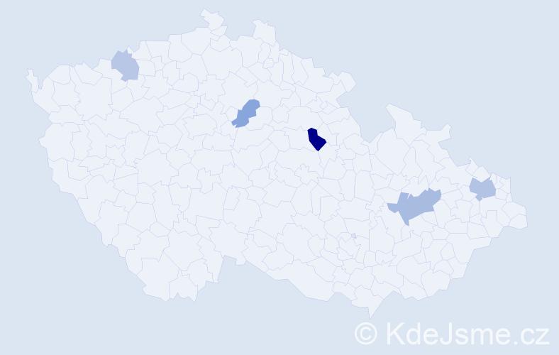 Příjmení: 'Leczová', počet výskytů 9 v celé ČR
