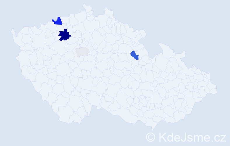 Příjmení: 'Esop', počet výskytů 7 v celé ČR