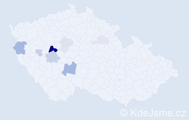 Příjmení: 'Fairaisl', počet výskytů 33 v celé ČR