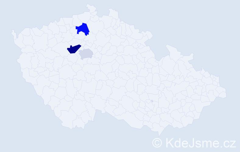 Příjmení: 'Binhack', počet výskytů 8 v celé ČR