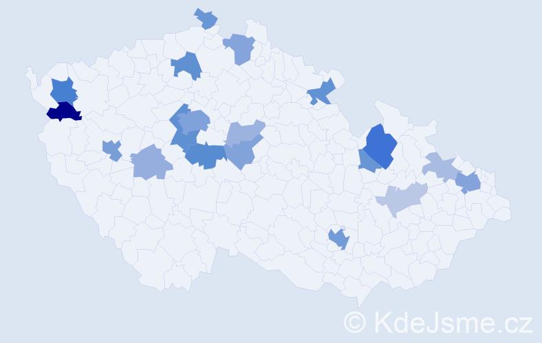 Příjmení: 'Lauermannová', počet výskytů 53 v celé ČR