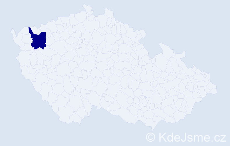 """Příjmení: '""""Kačerová Lovacká""""', počet výskytů 1 v celé ČR"""