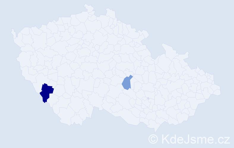 Příjmení: 'Fabšicová', počet výskytů 3 v celé ČR
