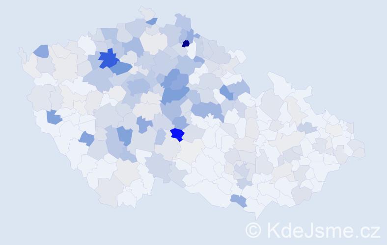 Příjmení: 'Krupková', počet výskytů 881 v celé ČR