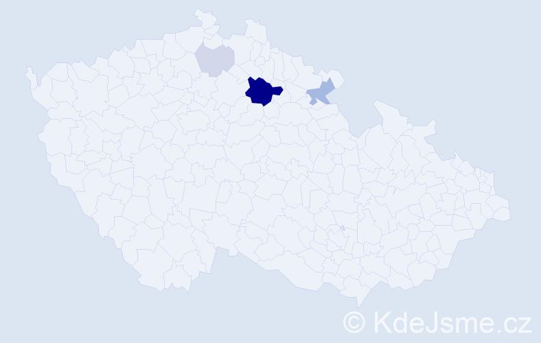 Příjmení: 'Hlawatschke', počet výskytů 13 v celé ČR