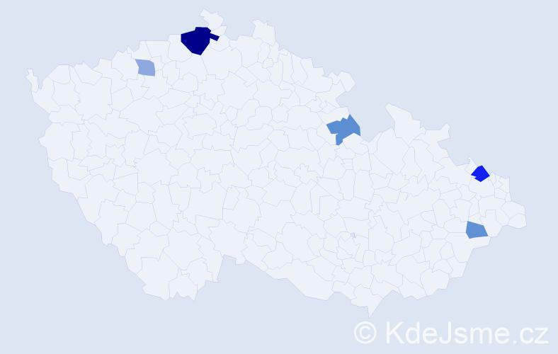 Příjmení: 'Čuchta', počet výskytů 10 v celé ČR