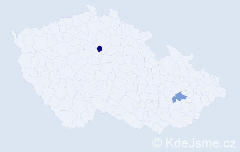 Příjmení: 'Grzywa', počet výskytů 2 v celé ČR