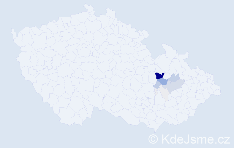 Příjmení: 'Ellner', počet výskytů 31 v celé ČR