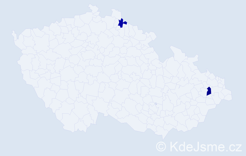 Příjmení: 'Grodzová', počet výskytů 9 v celé ČR