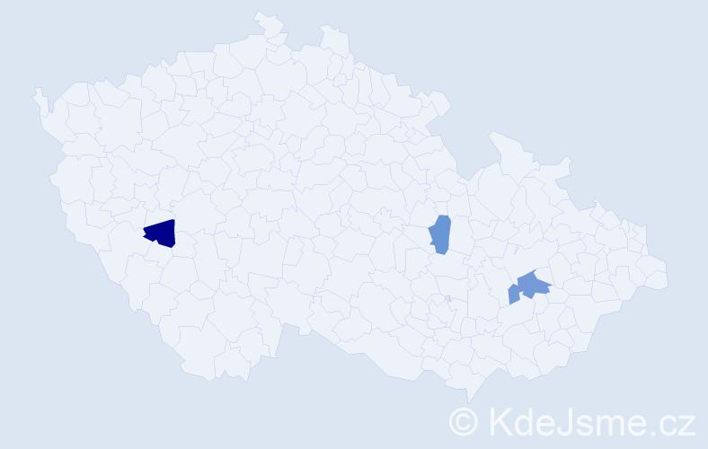 Příjmení: 'Lavrinčiková', počet výskytů 4 v celé ČR