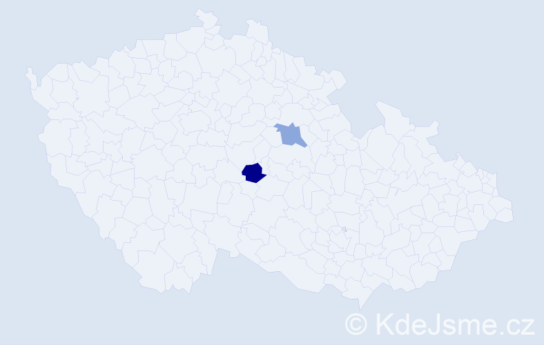 Příjmení: 'Hybín', počet výskytů 2 v celé ČR