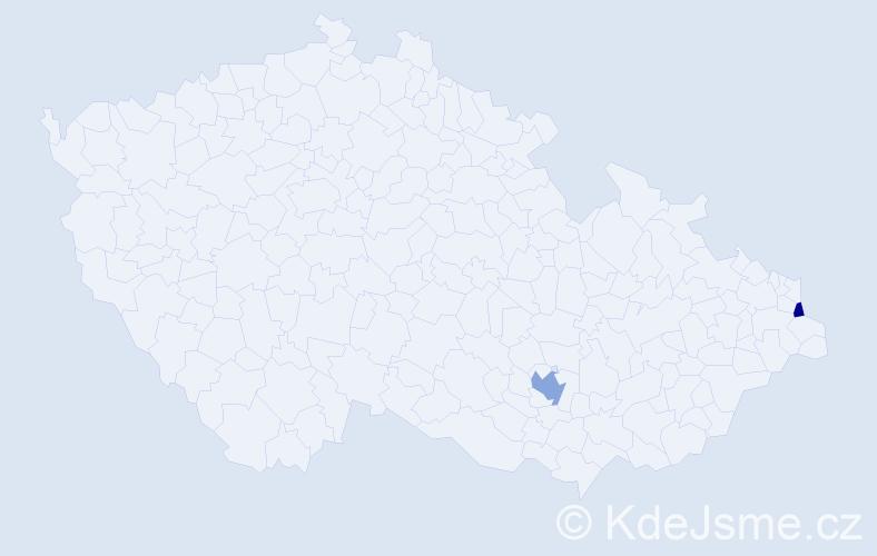 Příjmení: 'Gąszczyková', počet výskytů 3 v celé ČR