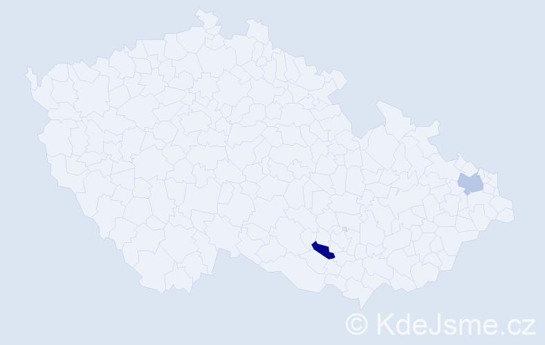 Příjmení: 'Galstyanová', počet výskytů 2 v celé ČR