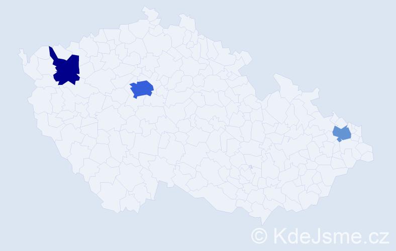 Příjmení: 'Leonard', počet výskytů 7 v celé ČR