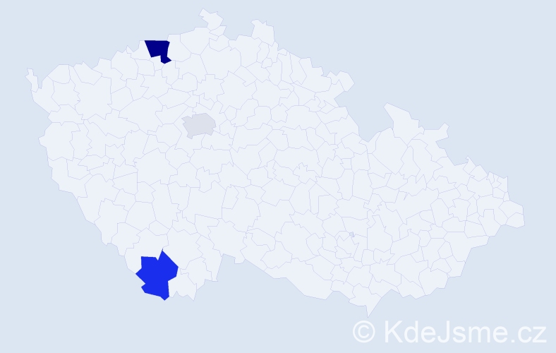 Příjmení: 'Göz', počet výskytů 5 v celé ČR