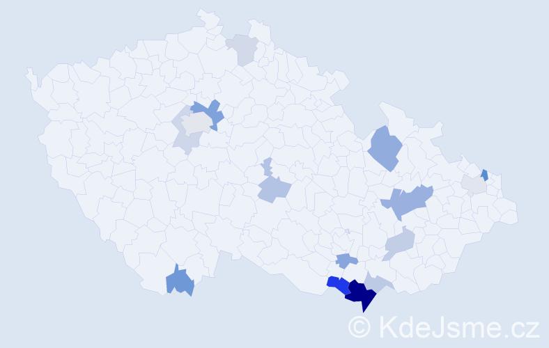 Příjmení: 'Bartalová', počet výskytů 32 v celé ČR