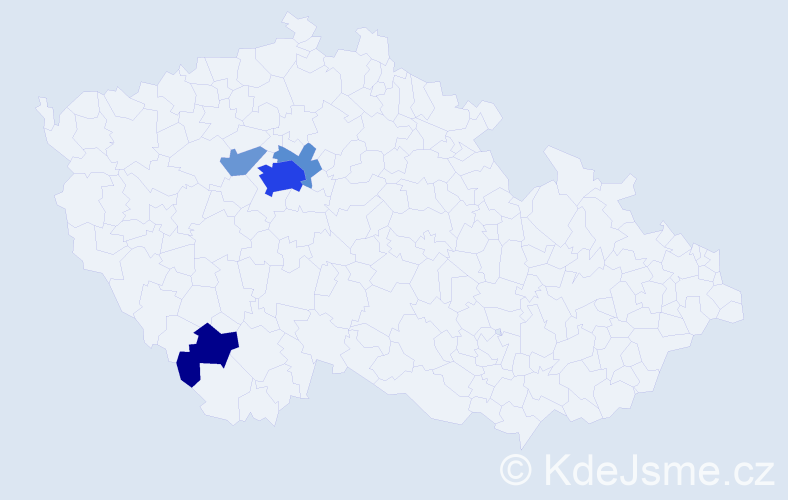 Příjmení: 'Engst', počet výskytů 16 v celé ČR