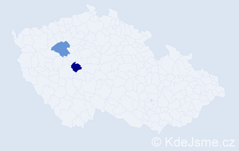 Příjmení: 'Kaestnerová', počet výskytů 4 v celé ČR