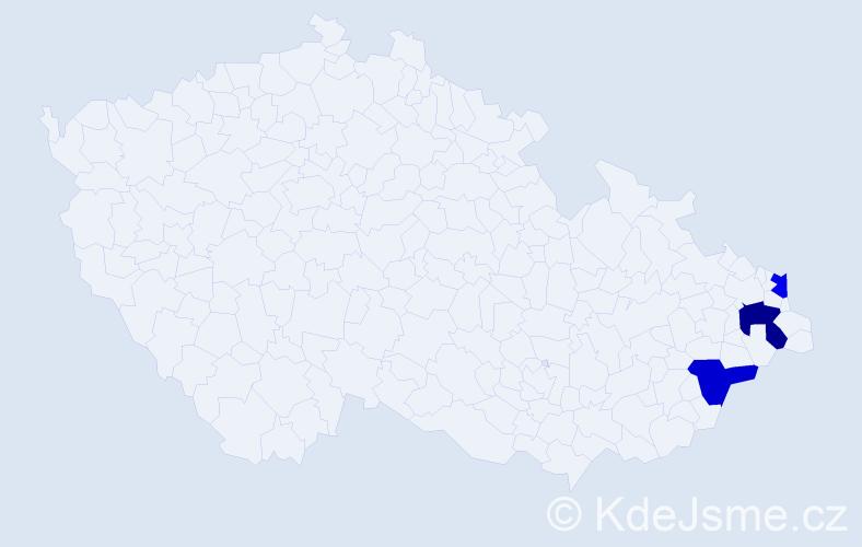 Příjmení: 'Hobšil', počet výskytů 7 v celé ČR