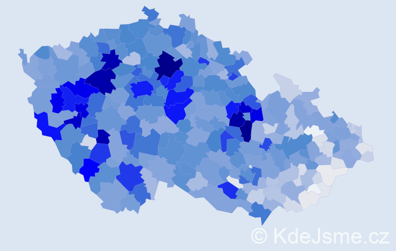 Příjmení: 'Beneš', počet výskytů 9440 v celé ČR