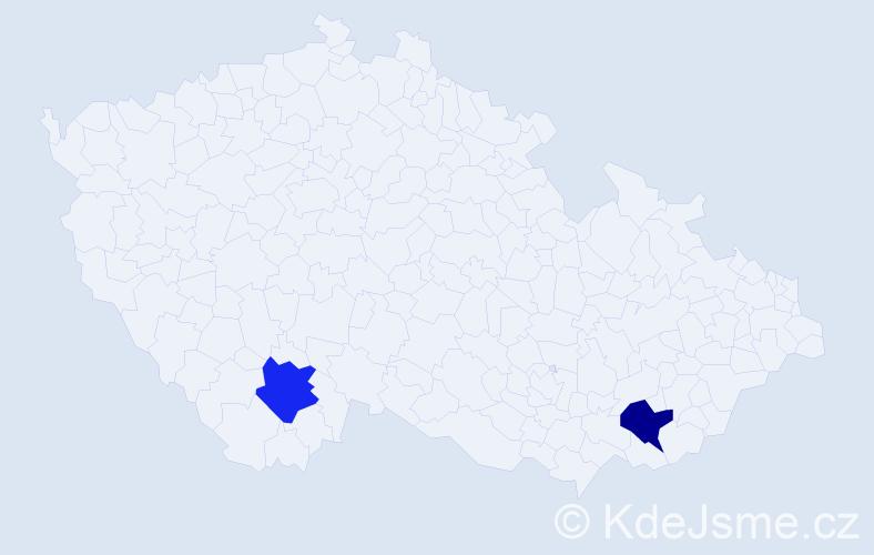 Příjmení: 'Augenthaler', počet výskytů 2 v celé ČR