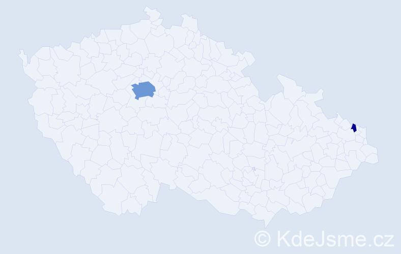 Příjmení: 'Erényi', počet výskytů 9 v celé ČR