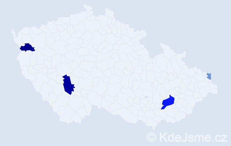 Příjmení: 'Ladický', počet výskytů 6 v celé ČR