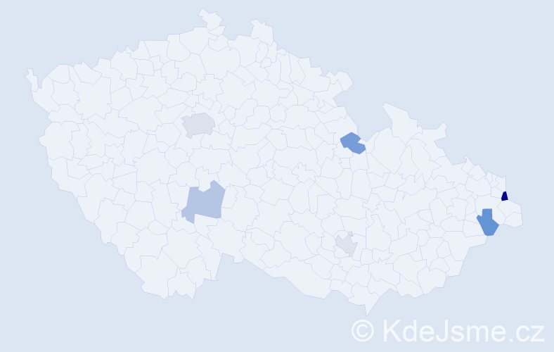 Příjmení: 'Cameron', počet výskytů 10 v celé ČR