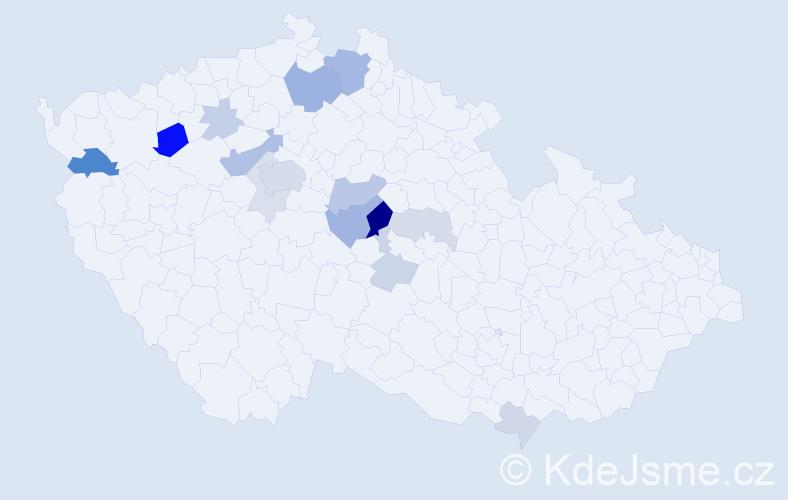 Příjmení: 'Klovrzová', počet výskytů 41 v celé ČR