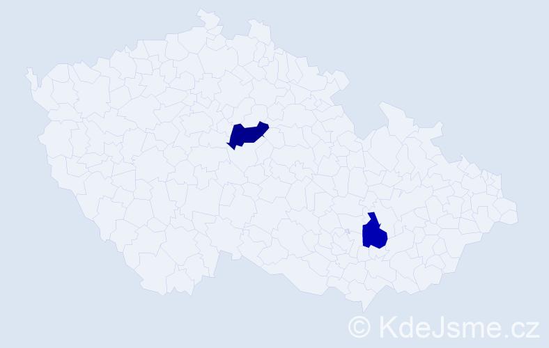 Příjmení: 'Istenčinová', počet výskytů 5 v celé ČR