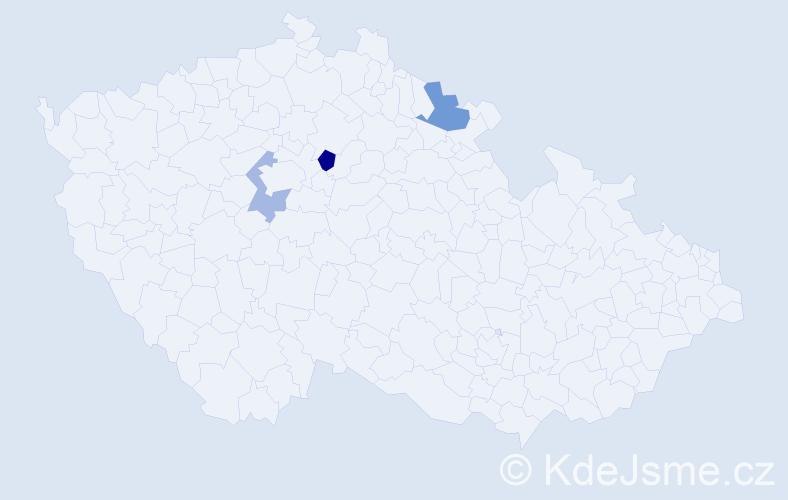 Příjmení: 'Ertnerová', počet výskytů 8 v celé ČR