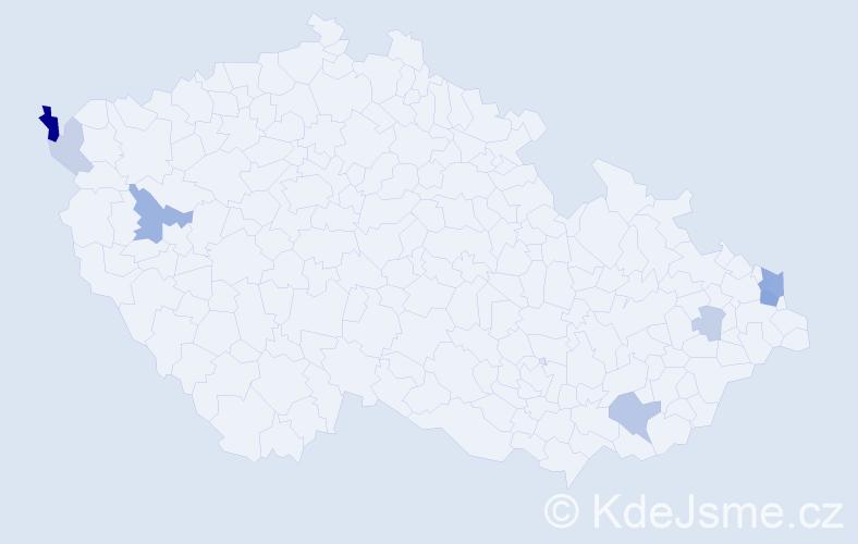 Příjmení: 'Borowská', počet výskytů 19 v celé ČR