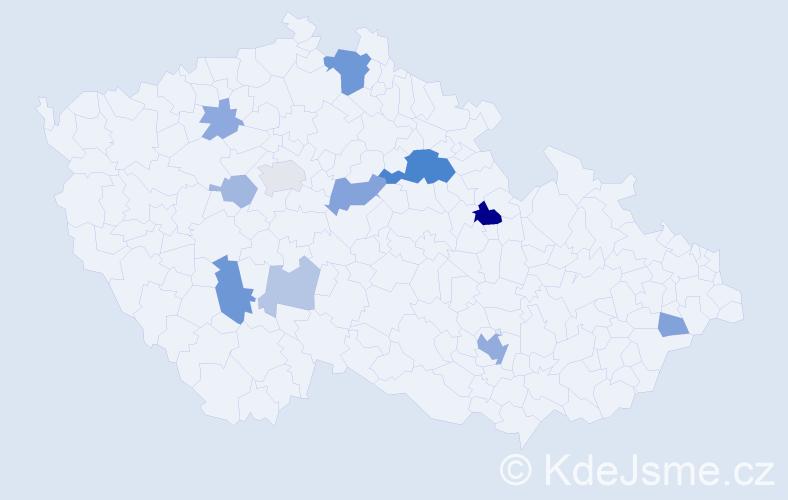 Příjmení: 'Hellmannová', počet výskytů 28 v celé ČR