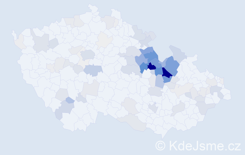 Příjmení: 'Diblík', počet výskytů 363 v celé ČR