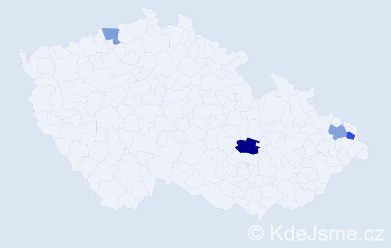 Příjmení: 'Damaškovičová', počet výskytů 7 v celé ČR