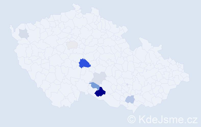 Příjmení: 'Kapko', počet výskytů 17 v celé ČR