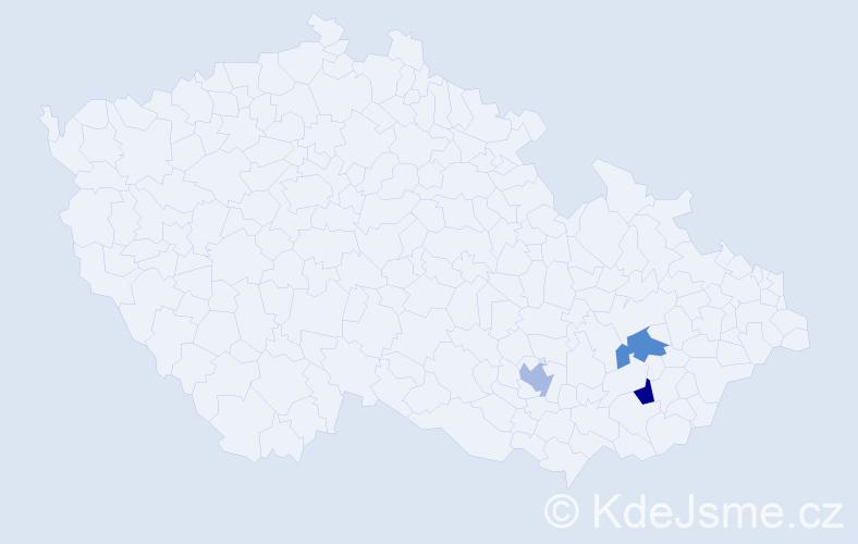 Příjmení: 'Donácziová', počet výskytů 3 v celé ČR