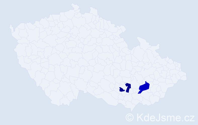Příjmení: 'Čúz', počet výskytů 2 v celé ČR