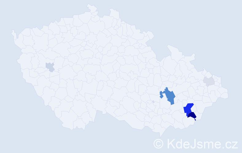 Příjmení: 'Čmelák', počet výskytů 14 v celé ČR