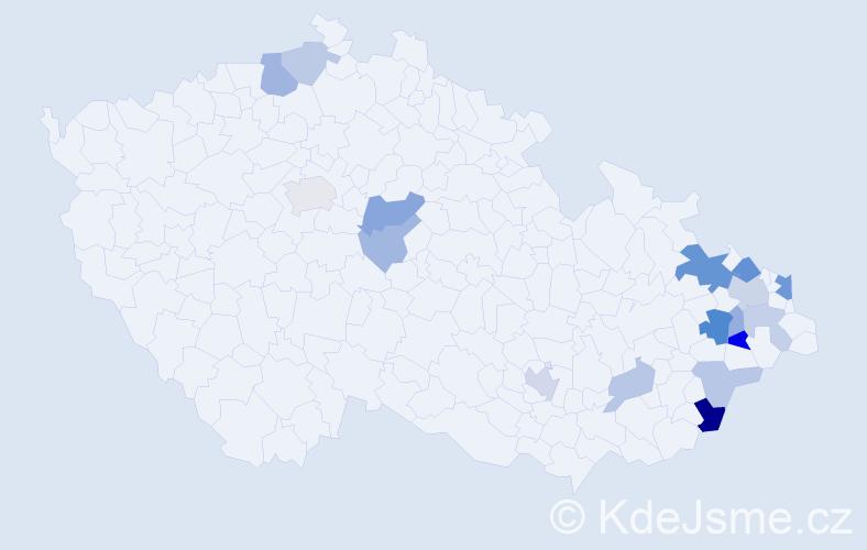 Příjmení: 'Figar', počet výskytů 33 v celé ČR