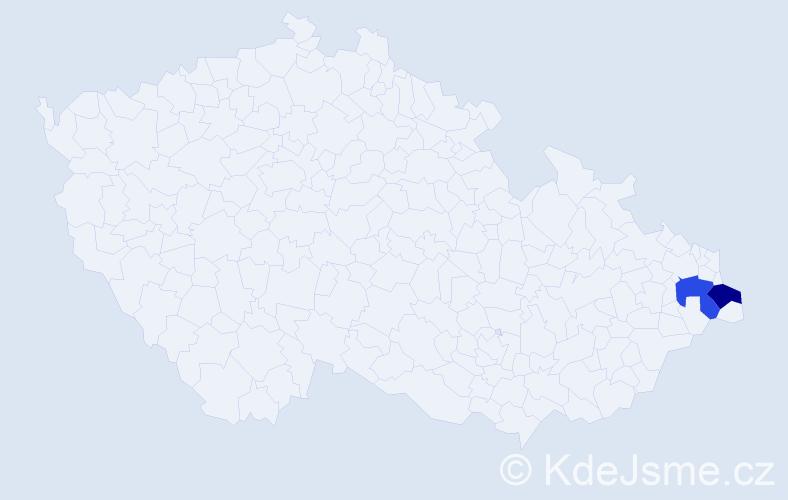 Příjmení: 'Dovičič', počet výskytů 2 v celé ČR