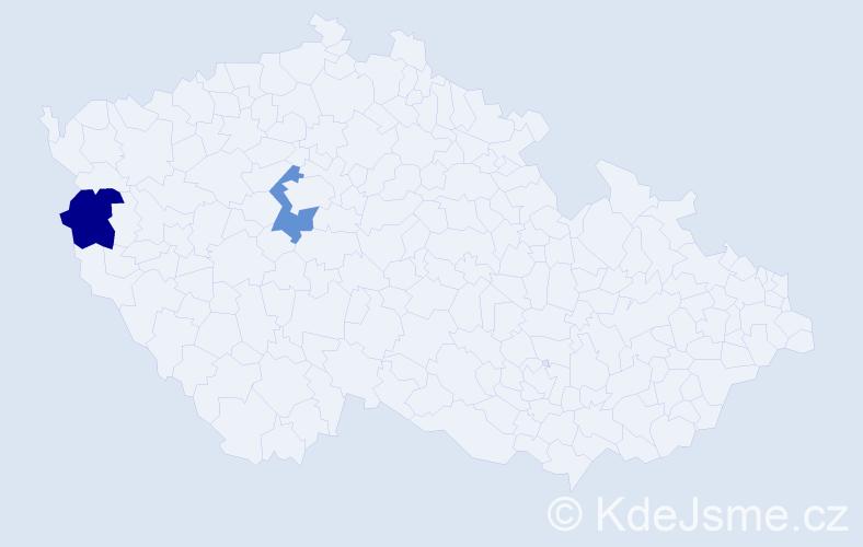Příjmení: 'Dreling', počet výskytů 2 v celé ČR