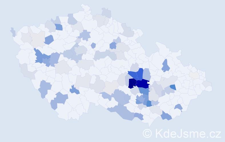 Příjmení: 'Kudová', počet výskytů 264 v celé ČR