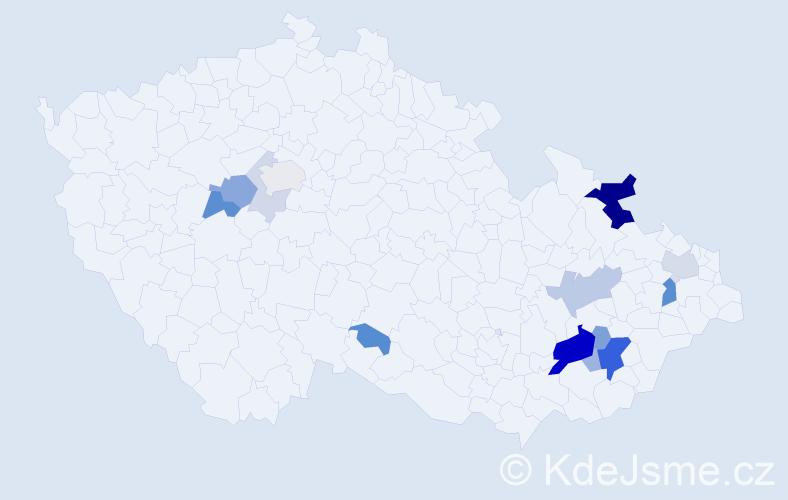 Příjmení: 'Drulák', počet výskytů 42 v celé ČR
