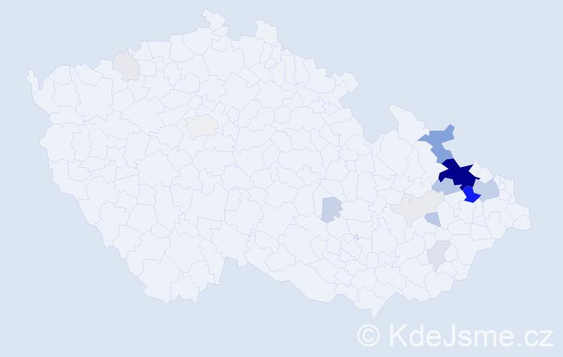 Příjmení: 'Illík', počet výskytů 86 v celé ČR