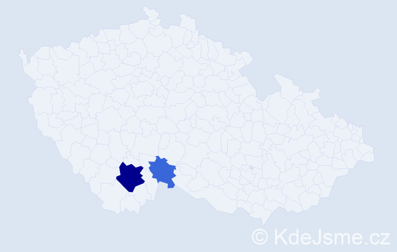 Příjmení: 'Kloida', počet výskytů 5 v celé ČR