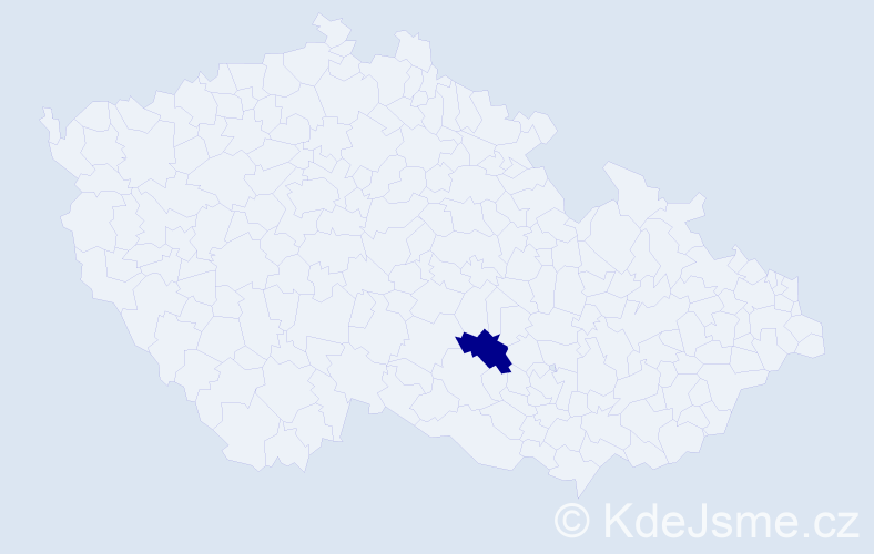 """Příjmení: '""""La Gioia Špárníková""""', počet výskytů 1 v celé ČR"""