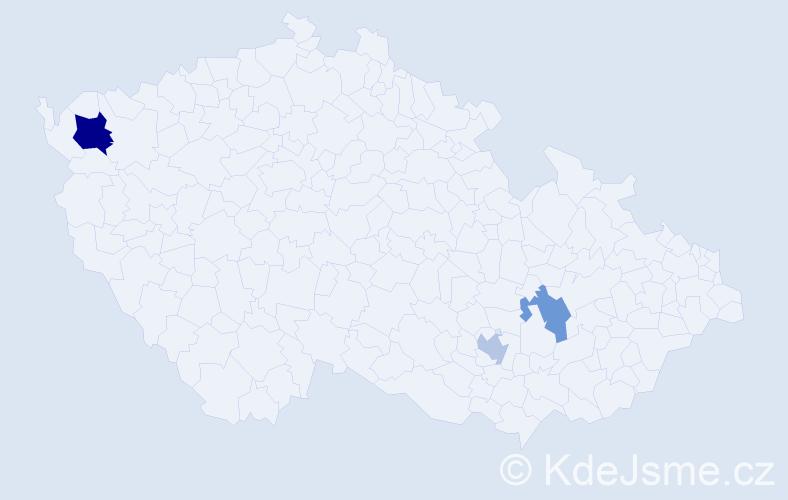 Příjmení: 'Landlová', počet výskytů 9 v celé ČR