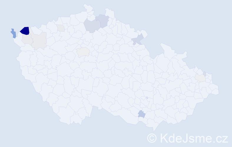 Příjmení: 'Amrich', počet výskytů 33 v celé ČR